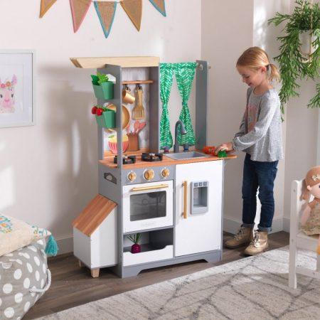 Tetőkert játékkonyha, fénnyel és hanggal,  Kidkraft - Könnyű, gyors összeállítás