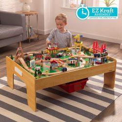 Kalandváros vonatszett asztallal - Kidkraft- könnyű összeállítás