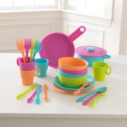 Konyhai kiegészítő, Műanyag játék étkészlet, színes, Kidkraft
