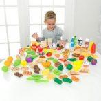 Konyhai kiegészítő, Deluxe fínom falatok műanyag játék étel szett, 115 db, Kidkraft