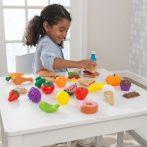 Konyhai kiegészítő, 30 db-s műanyag játék étel szett, Kidkraft