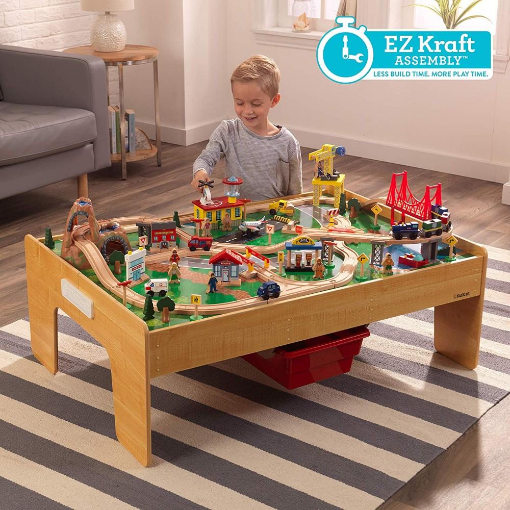 Image of Kalandváros vonatszett asztallal - Kidkraft- könnyű összeállítás