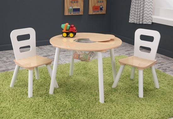 Image of Kerek játéktárolós asztal és székek szett, Kidkraft