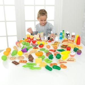 Image of Konyhai kiegészítő, Deluxe fínom falatok műanyag játék étel szett, 115 db, Kidkraft