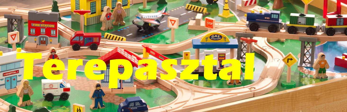 Kidkraft Vonatszett, Terepasztal, Autóverseny, Űrhajó, Fiús játékok